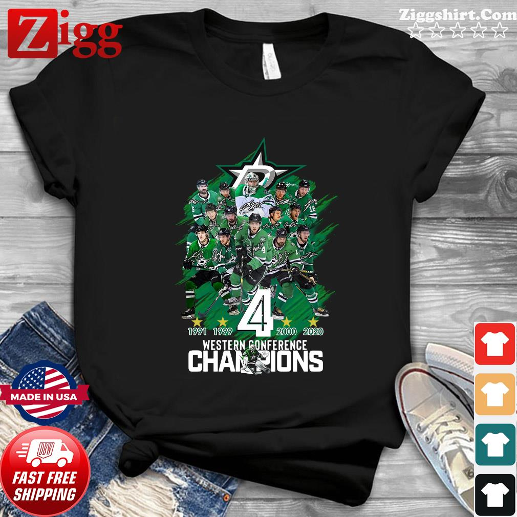 Dallas Stars player Western Conference Champions signatures shirt