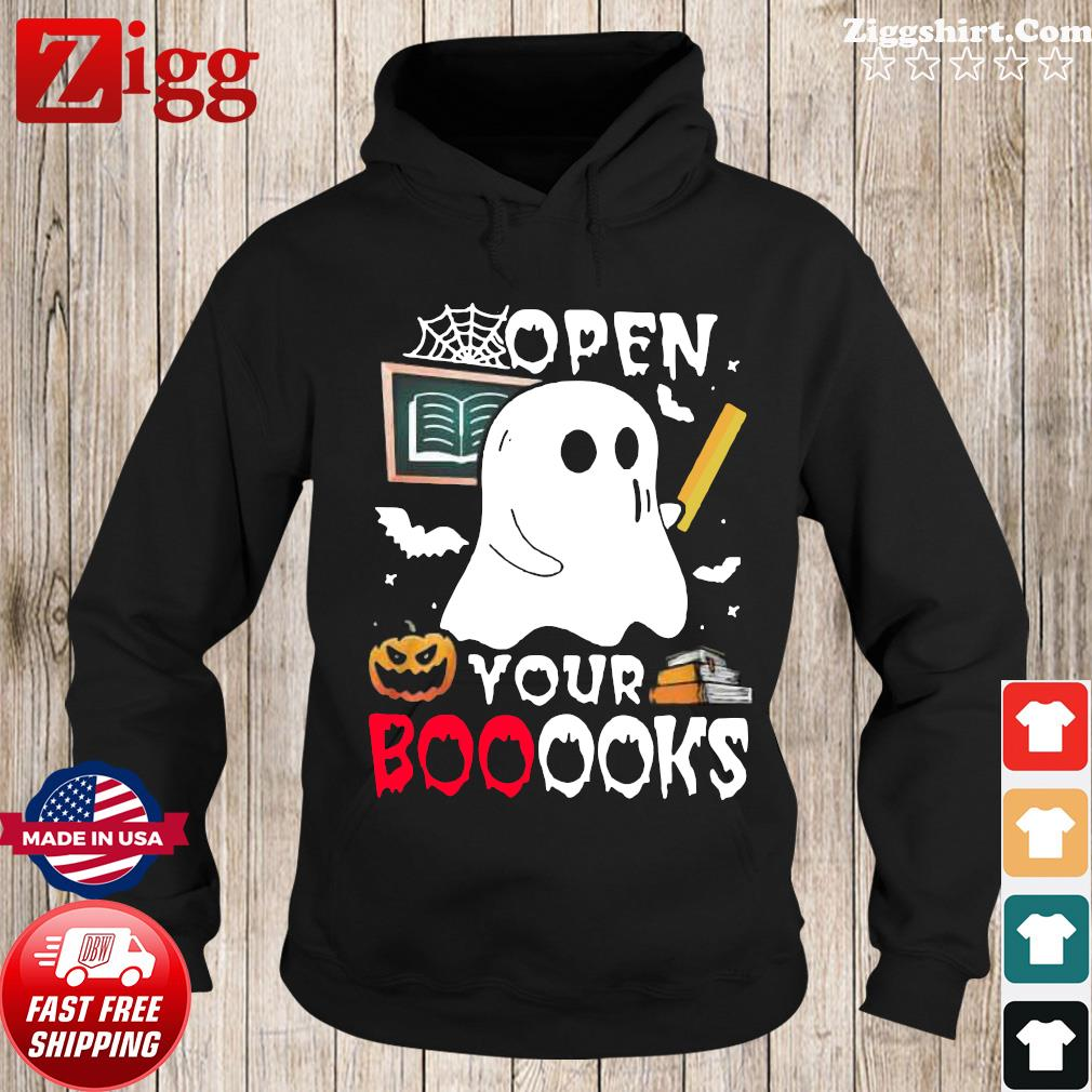 Ghost Open Your Booooks Halloween Shirt Hoodie