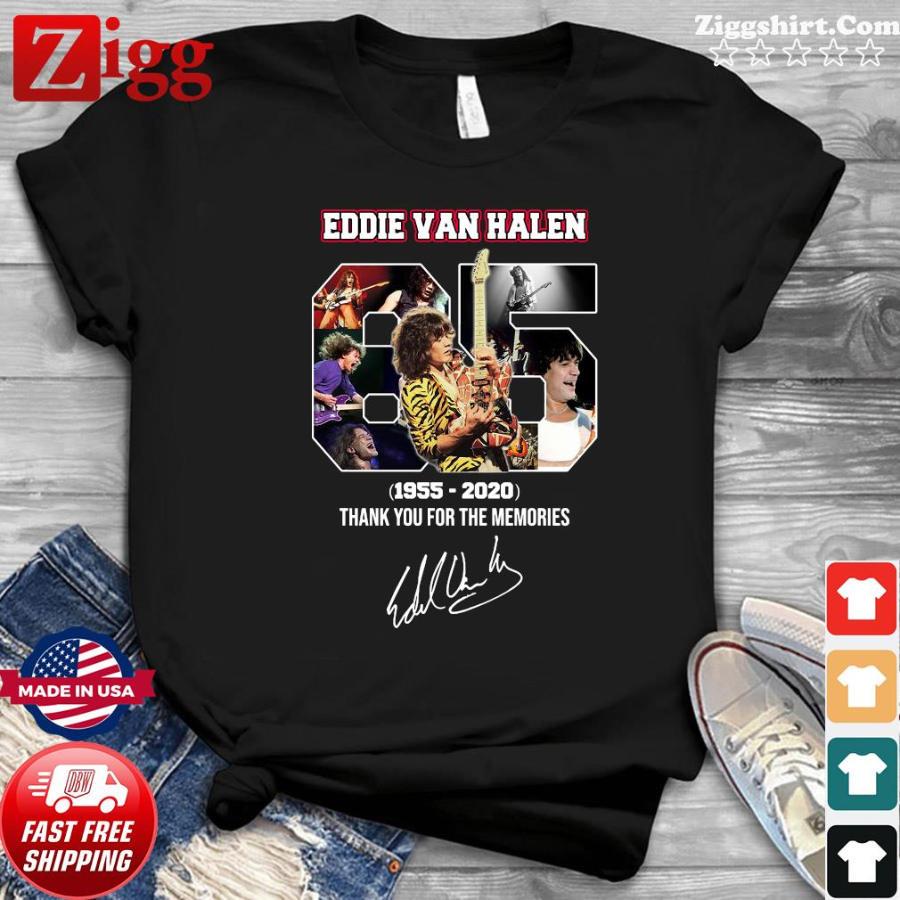 65 Eddie Van Halen 1955 2020 Thank You For The Memories Signature Shirt