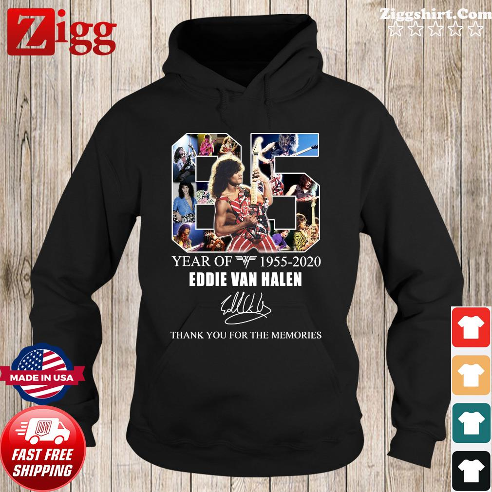 65 Years Of Eddie Van Halen 1955 2020 Thank You For The Memories Signature Shirt Hoodie