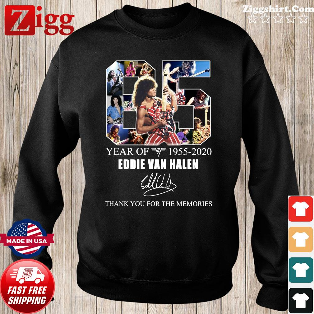 65 Years Of Eddie Van Halen 1955 2020 Thank You For The Memories Signature Shirt Sweater