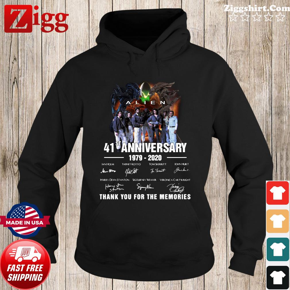 Alien 41st Anniversary 1979 2020 Thank You For The Memories Signatures Shirt Hoodie