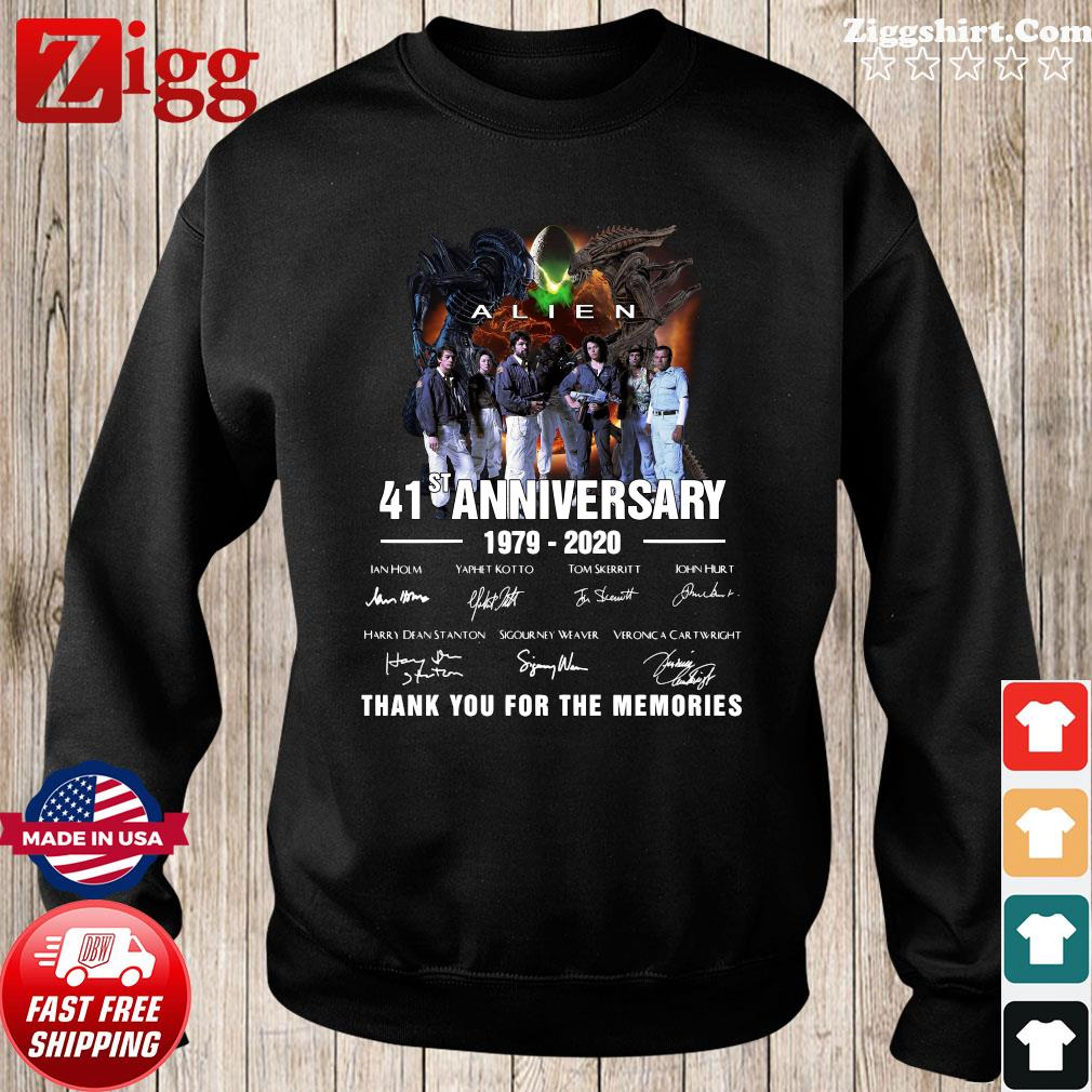 Alien 41st Anniversary 1979 2020 Thank You For The Memories Signatures Shirt Sweater