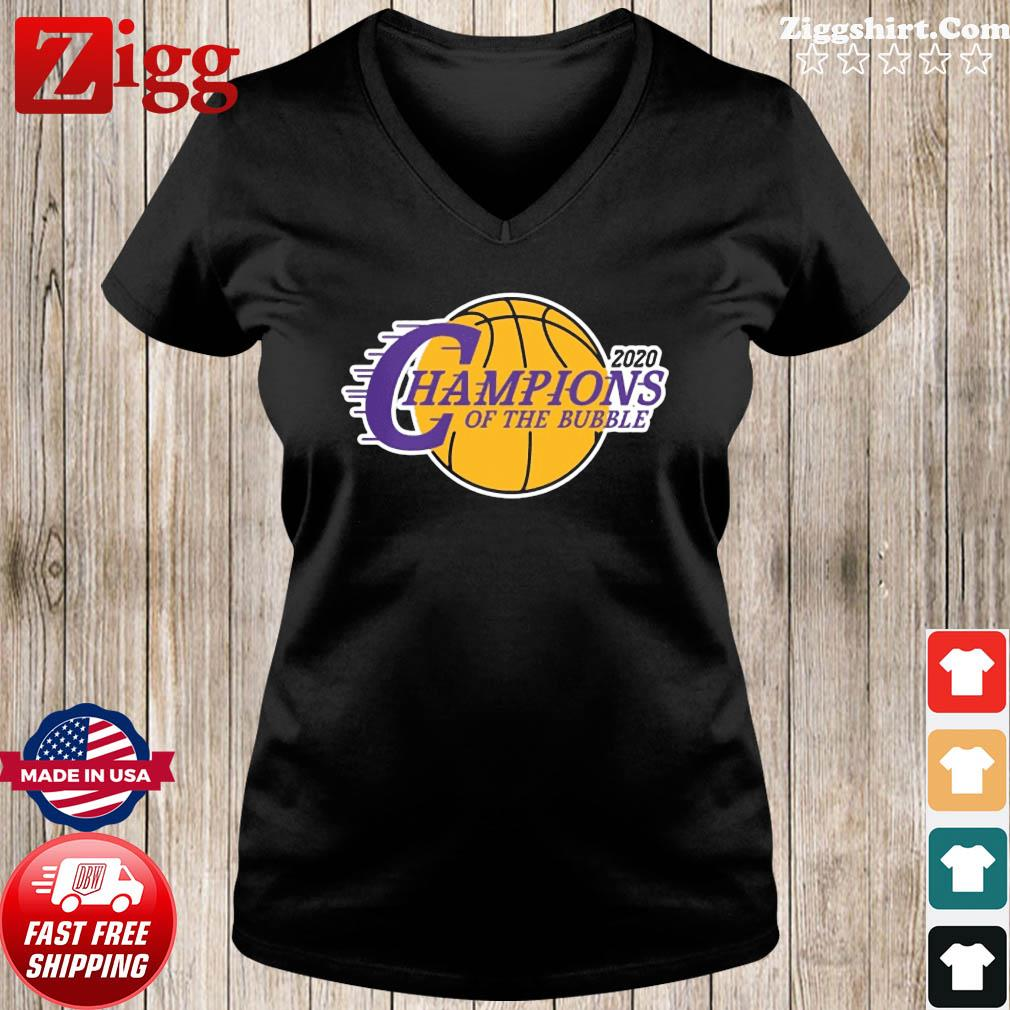 Champions Of The Bubble Basketball 2020 Shirt Ladies tee