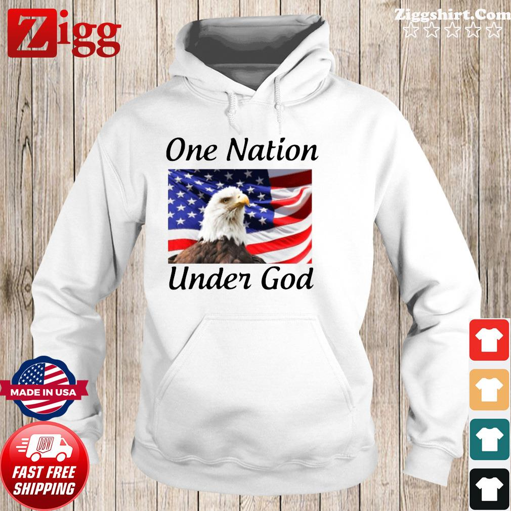 Eagle One Nation Under God American Flag Shirt Hoodie