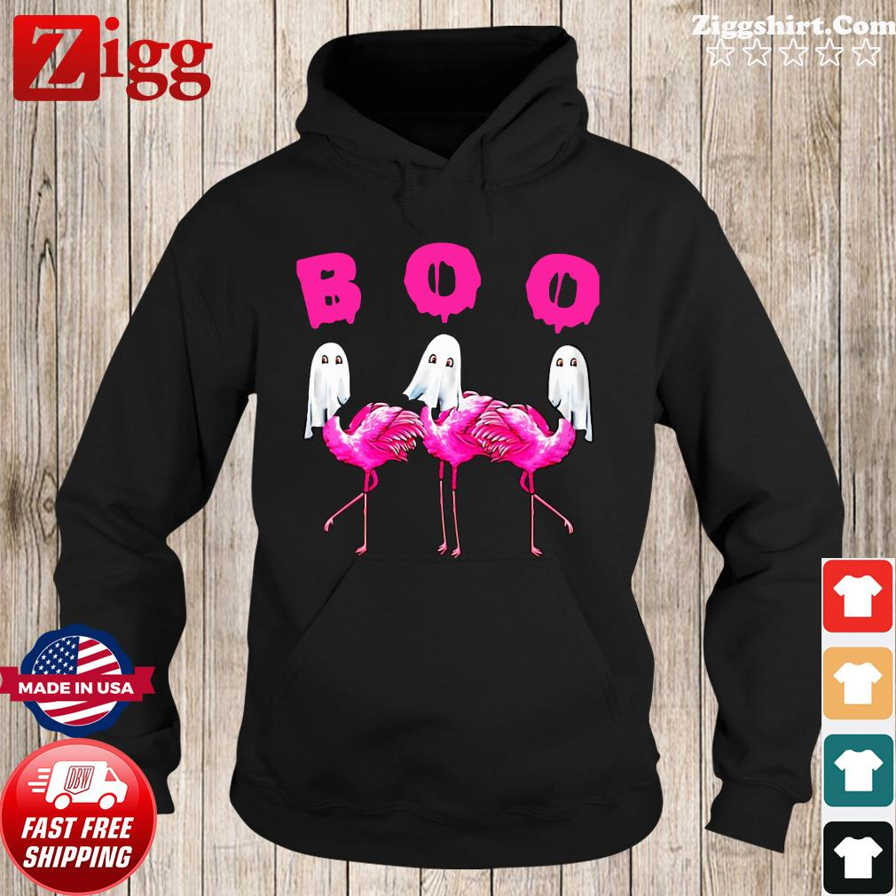 Flamingos Ghost Boo Halloween Shirt Hoodie