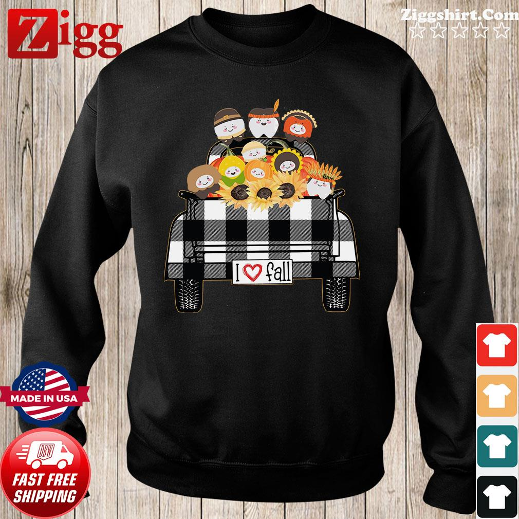 I Love Fall Tooth Sunflower native Shirt Sweater