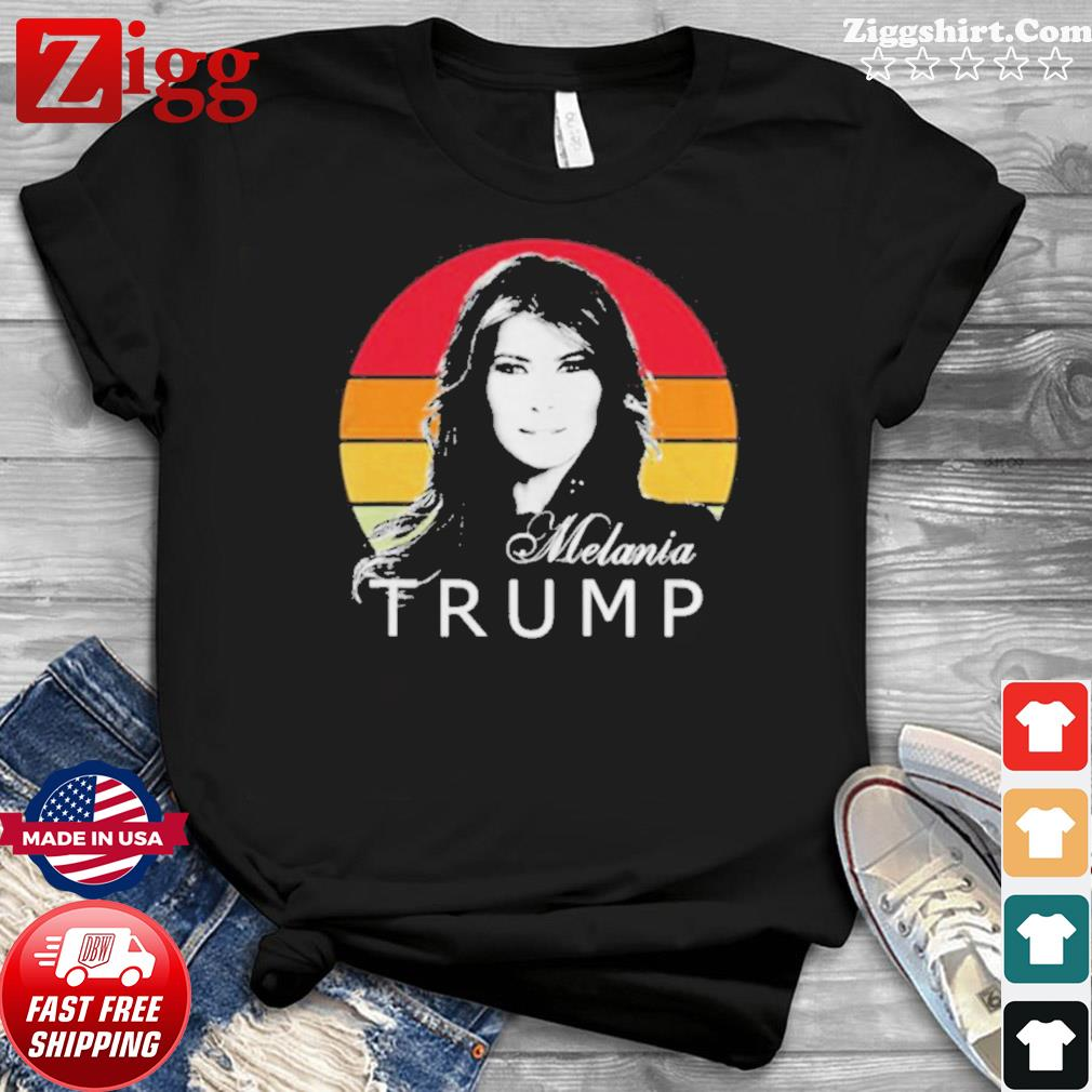 Melania trump first lady of the united states vintage retro shirt