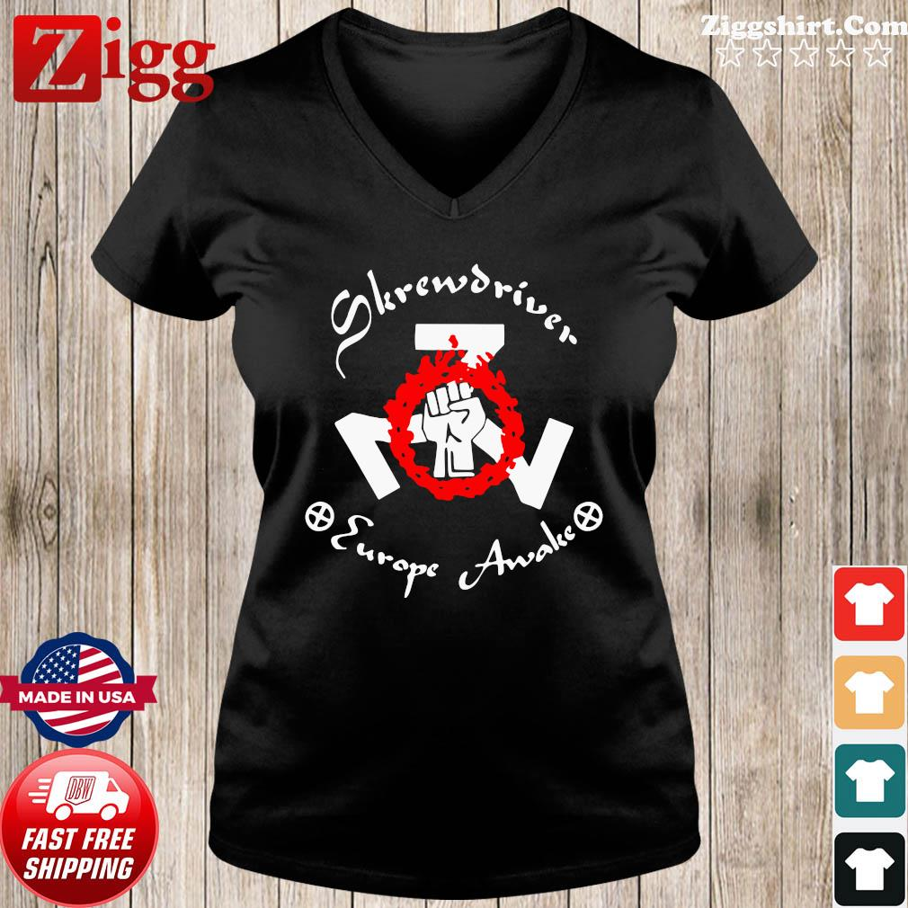 Shane Burley Skrewdriver Europe Shirt Ladies tee