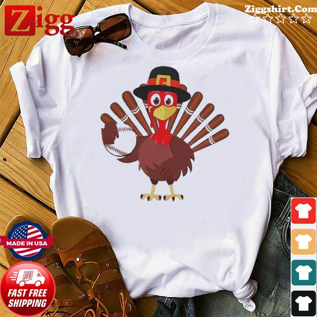 Turkey Baseball Thanksgiving 2020 shirt