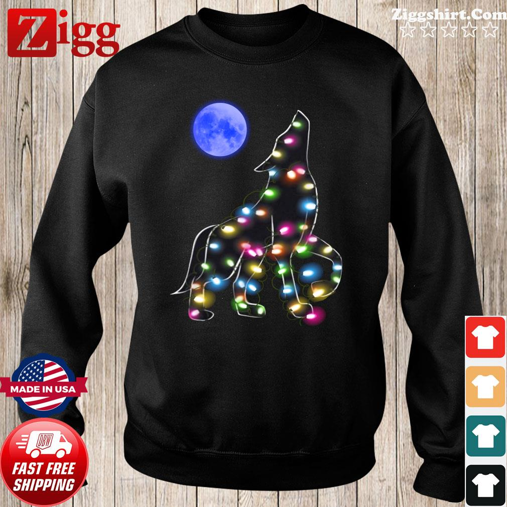 Wolf Moon Light Christmas Sweatshirt